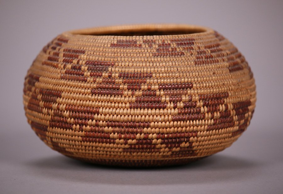 Native American Maidu Indian Basket c1920s