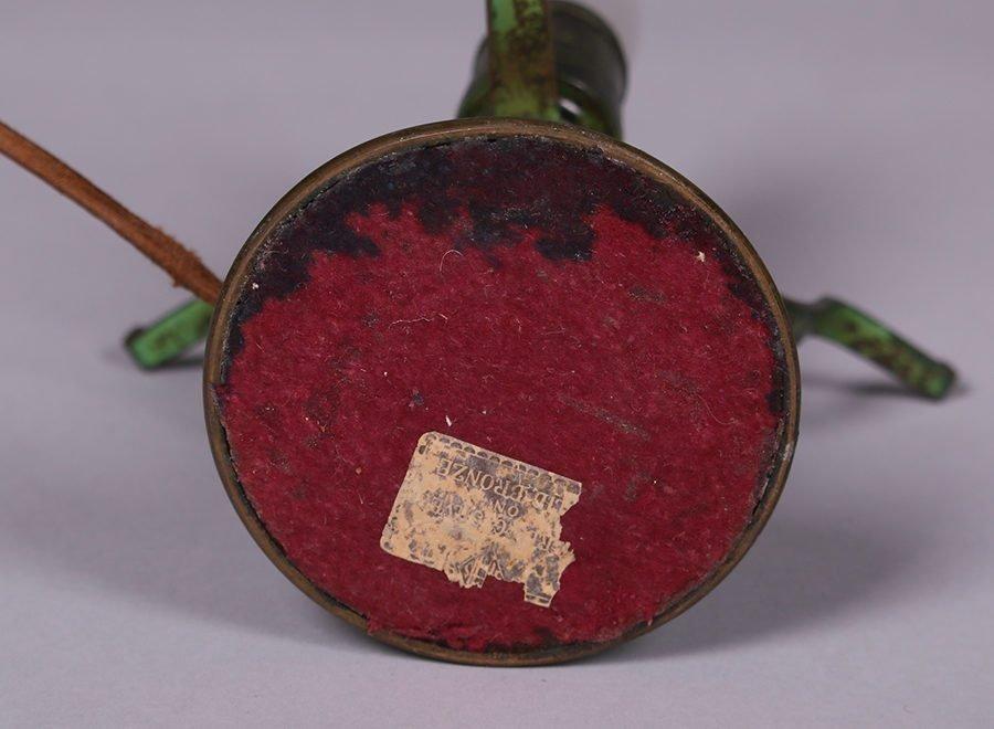 Heintz Sterling on Bronze Green Lamp - 2