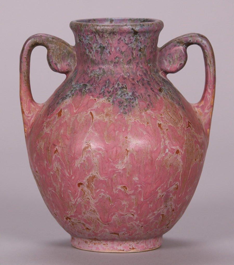 Roseville Carnelian II Two-Handled Vase