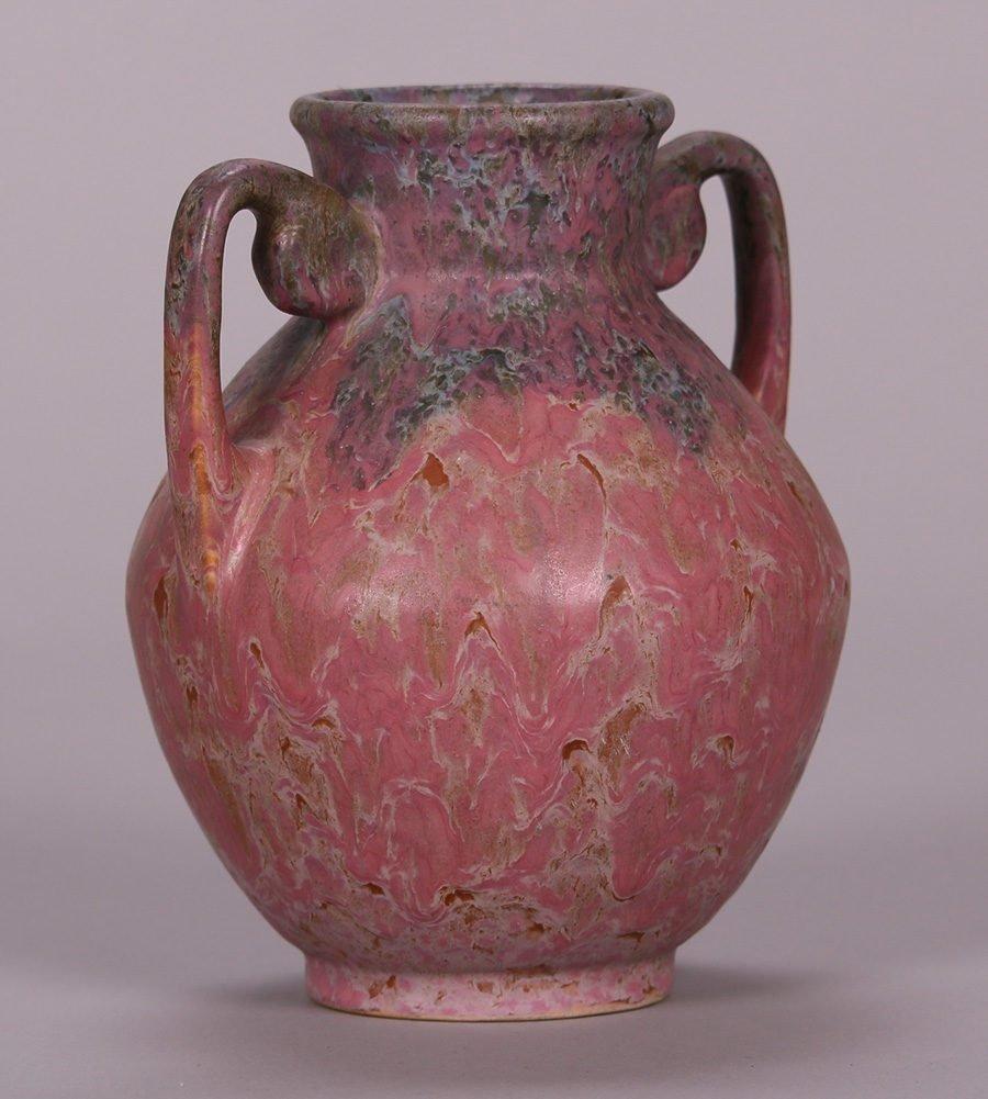 Roseville Carnelian II Two-Handled Vase - 2