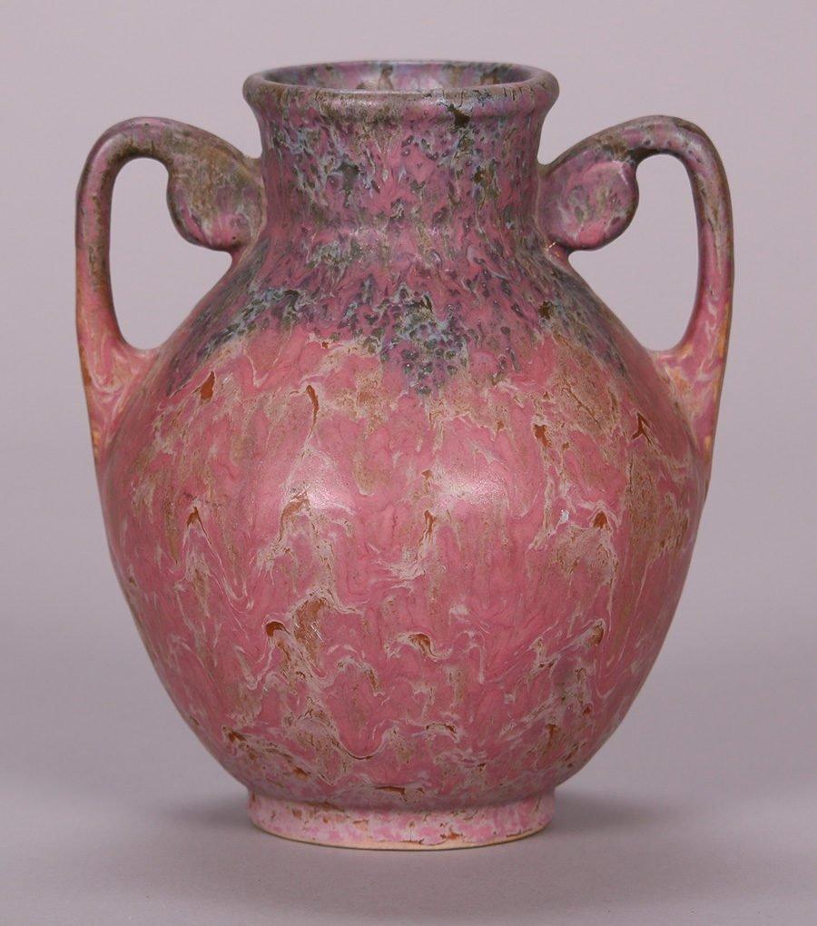 Roseville Carnelian II Two-Handled Vase - 3