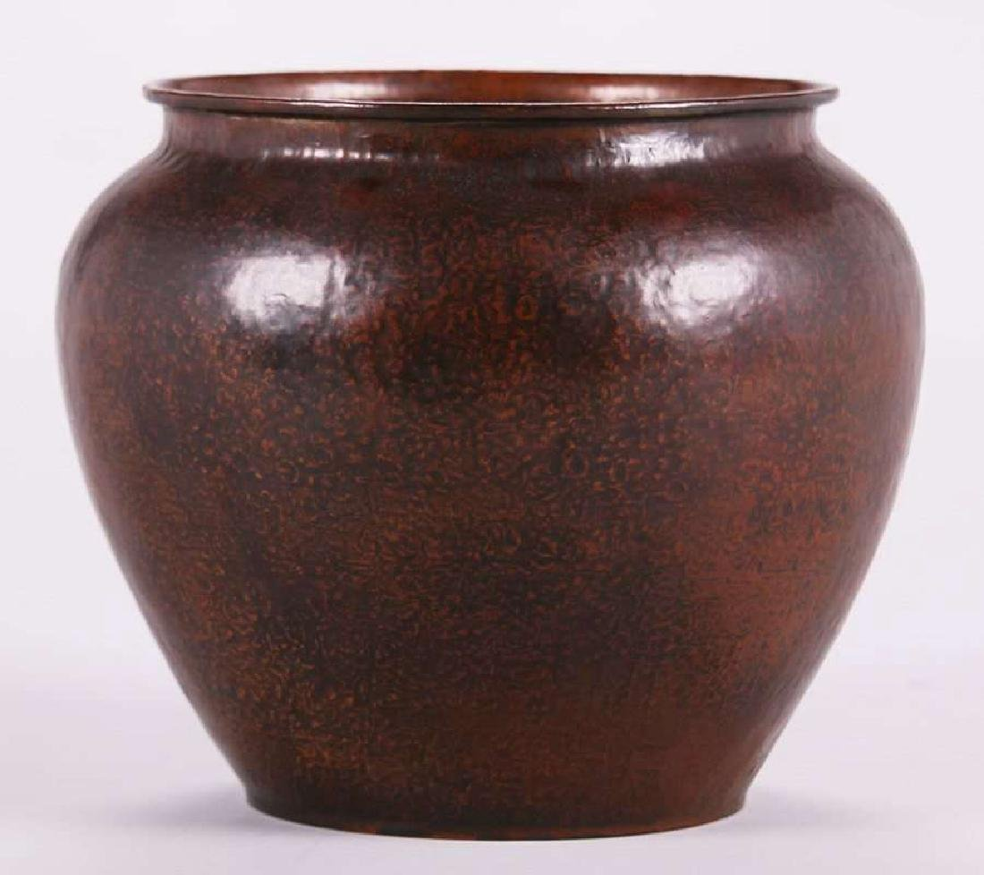 August Tiesselinck Hammered Copper Jardiniere c1932