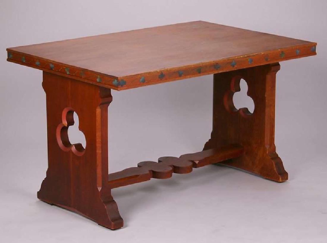 Bernard Maybeck Oak Trestle Table c1923