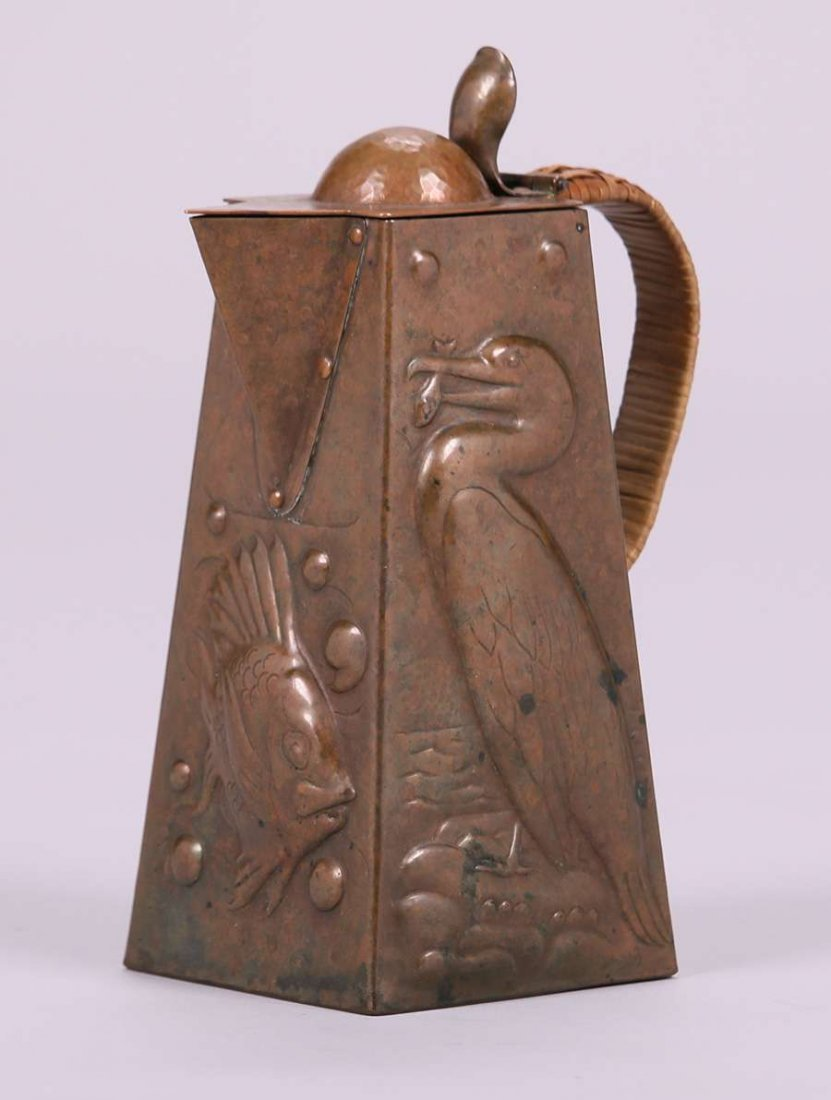 Newlyn Hammered Copper Pitcher