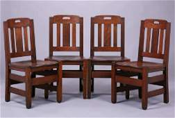 Set of 4 Stickley Brothers Dining Chairs