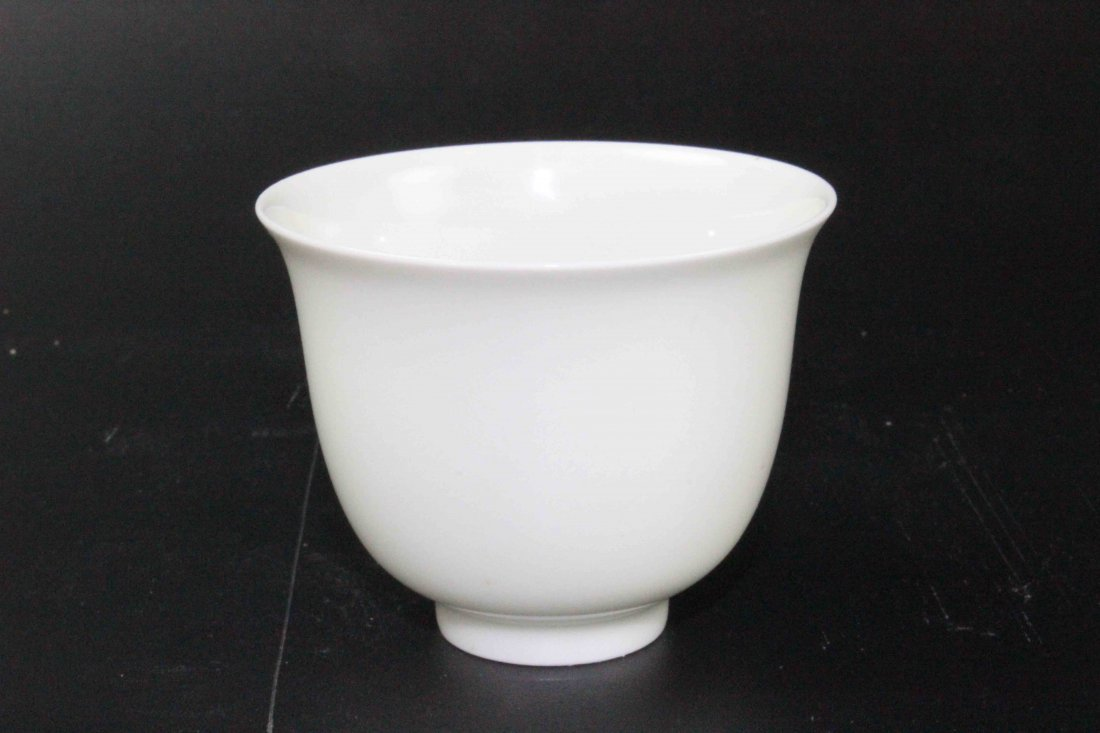 Chinese Lovely White Glazed Cup
