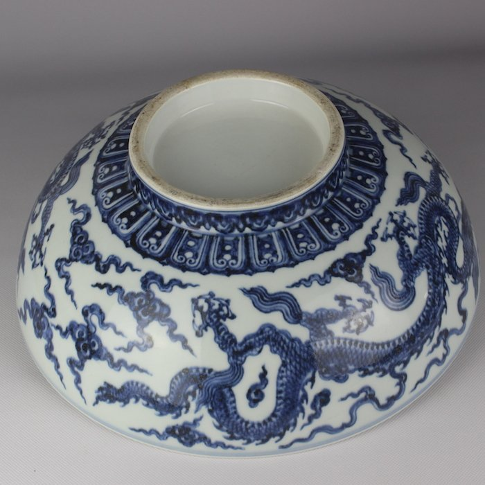 Chinese Blue And White Glazed Bowl
