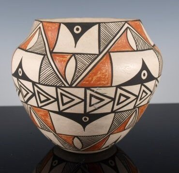 Acoma Polychrome Pottery Olla by Denise J. Valle