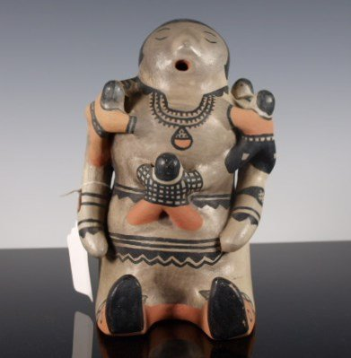 Cochiti Storyteller Figure with Five Children by Rita L