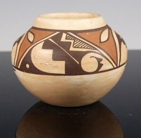 Polychrome Pottery Jar with Hopi Design by Stella