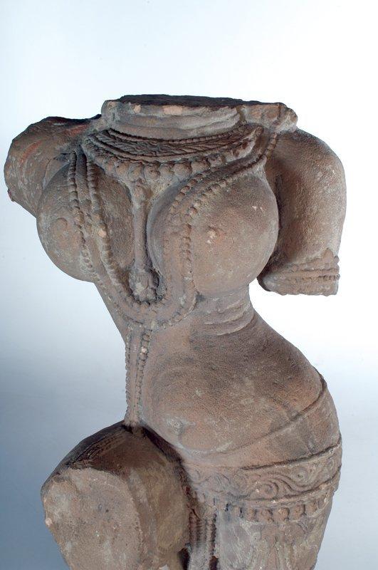 Ancient Indian Sandstone Torso of Madhya Pradesh