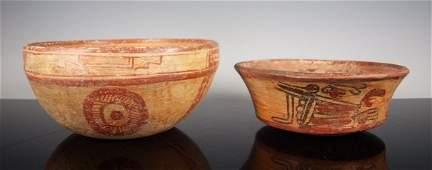 Two PreColumbian Mayan bowls