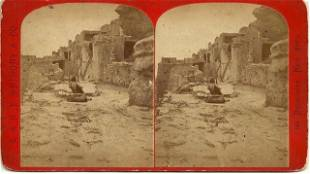 EARLY MOQUI STEREOVIEW BY E.O. BEAMAN OF POWELL'S FIRST