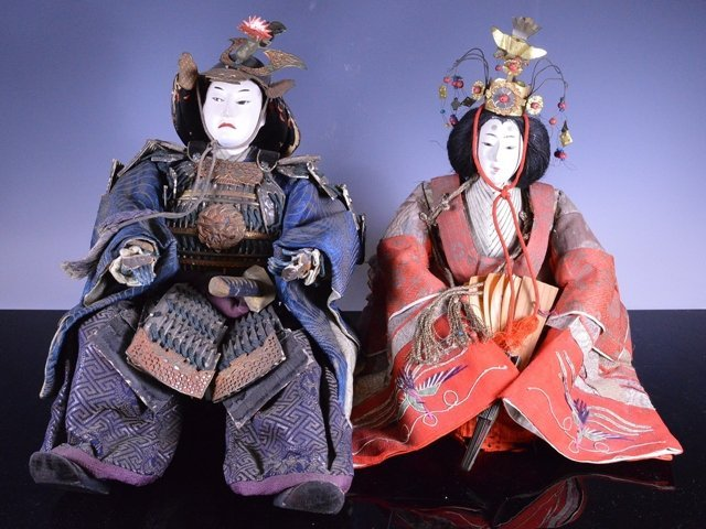 Edo period Japanese boys day Samurai Dolls