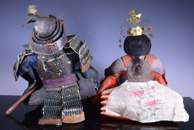 Edo period Japanese boys day Samurai Dolls - 4