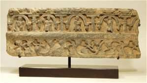Large Ancient Gandharan Schist Relief Panel