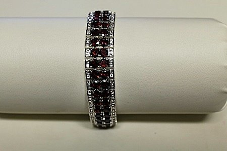 Beautiful Antique Style Garnet Bracelet