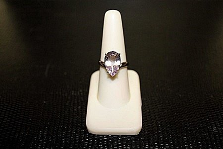 "Lady's Very Fancy  White Gold over Silver ""Pear"" Shape"