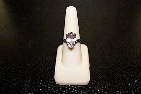 """Lady's Very Fancy  White Gold over Silver """"Pear"""" Shape"""