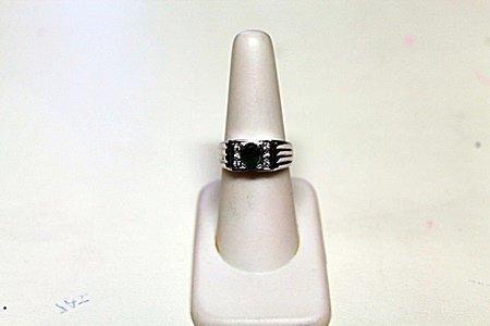 Unisex Diamond Emerald Ring