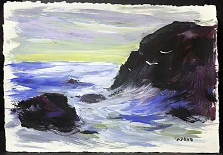 Original Watercolor On Paper By Robert Wood.(5I)