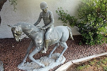 """Jocky on Horse"" Bronze Recast Sculpture After Henry"