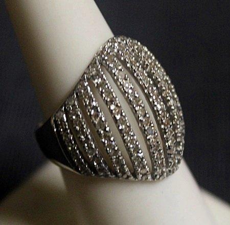 Fancy 14 kt White Gold Diamonds Ring (30ZF)
