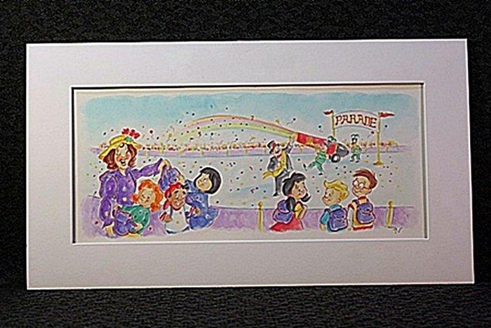 Original Watercolor by Victoria Ponikvar - Parade