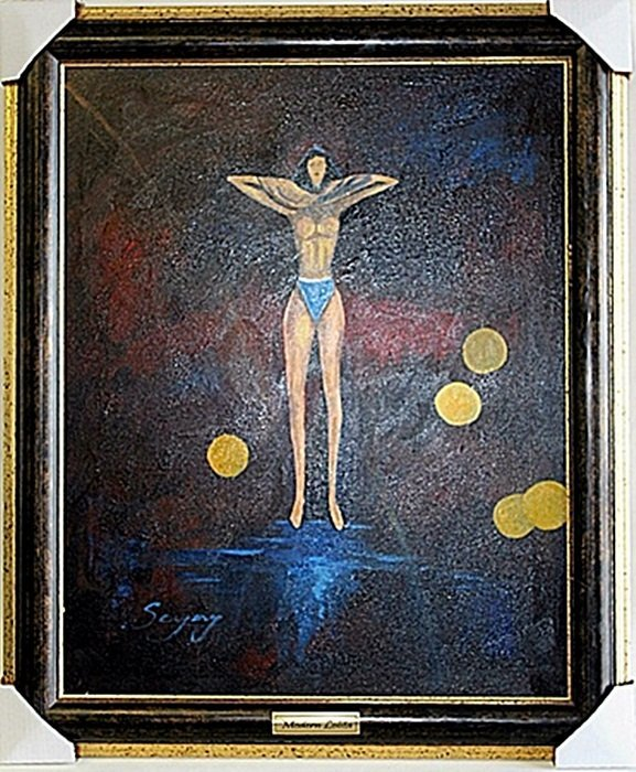 "Original Oil on Canvas ""Modern Lolita"" by Sergey"