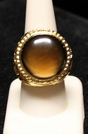 Gorgeous Tiger Eye with Fancy Mount Ring (1ZR)
