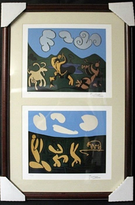 Lithographs 2-in-1 by P. Picasso (EK 1121)