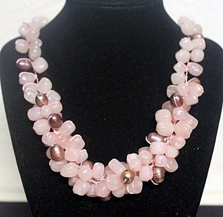 Fancy Pink Agate Necklace (2ZF)