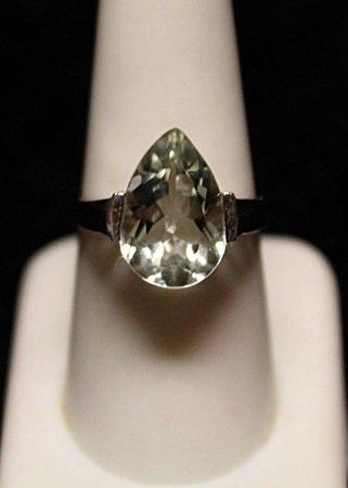 Gorgeous Aquamarine SS Ring (6ZR)