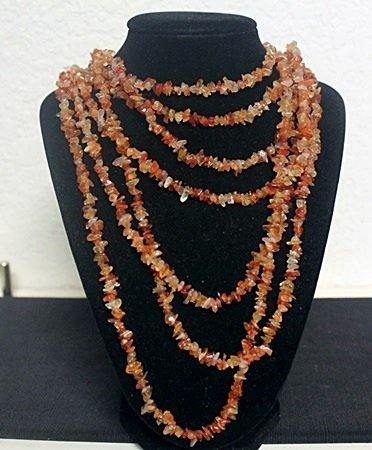 Beautiful Mixed Coral with Crystals Necklace (9ZF)