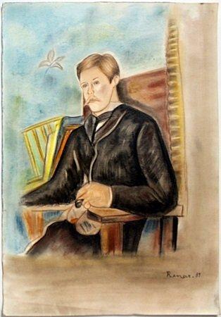 Original Pastel on Paper by Pierre Auguste Renoir