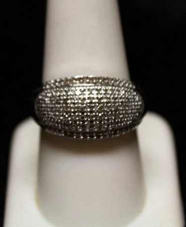 Very Fancy Diamond Cluster SS Ring (2ZR)