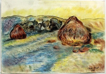 Original Pastel on Paper by Claude Monet