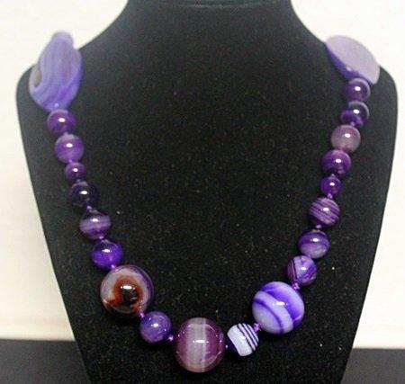 Fancy Purple Jade Necklace (3ZF)