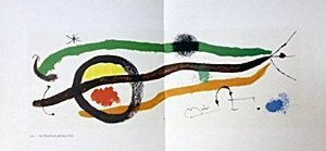 "Lithograph ""Le Lezard Aux Plumes D'or"" by Joan Miro"