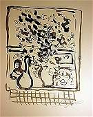 Original Hand Draw Ink Drawing  Signed  Chagall 34WC