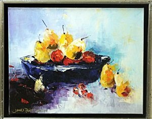 "Giclee on Canvas "" Still Life with Pears"" after James"