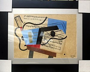 The Guitar V - Mixed Media Collage by Juan Gris