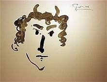 Original Watercolor Signed Picasso (51WC)