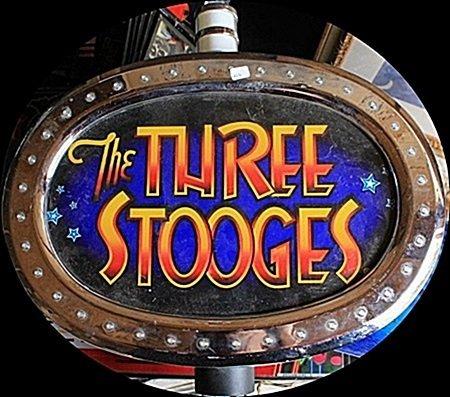 "Vintage ""The Three Stooges"" Casino Slots Topper. (N)"