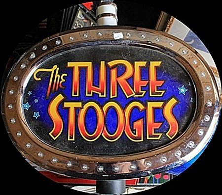 "Vintage ""The Three Stooges"" Casino Slots Topper. (N)"