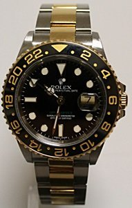 TWO-TONE GMT ROLEX WRIST WATCH