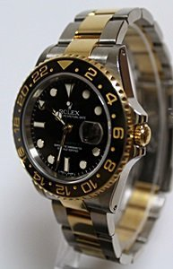 TWO-TONE GMT ROLEX WRIST WATCH - 2