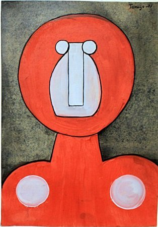 Character - Oil Painting on Paper - Rufino Tamayo