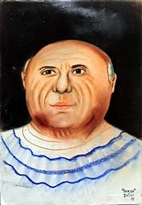 """""""Picasso"""" Pastel on Paper by Fernando Botero"""