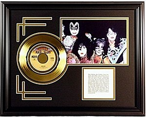 The Kiss Giclee with Gold Record